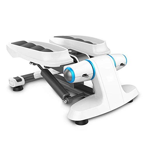 AUKLM Stepper,Home Weight Loss Machine Multifunctional Thin Waist Machine Mini Leg Exercise Bike Free Installation of Climbing Stepper Portable Fitness Equipment Size 53.5 37 32cm (Color : WHI