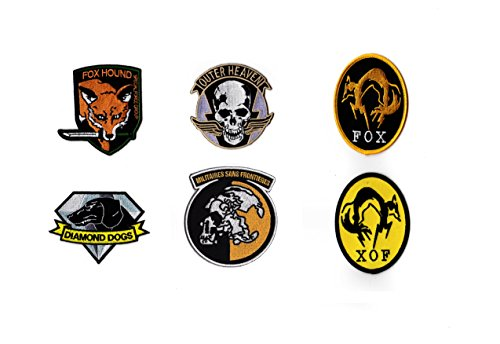 Metal Gear Solid Patch Hook and Loop Cosplay Set Foxhound, Fox, XOF, Diamond Dogs, Outer Heaven, MSF