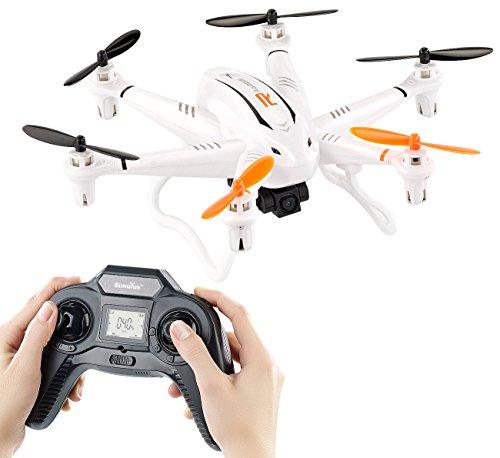 Simulus Drohne mit Kamera: Kompakter Profi-Hexacopter GH-6.cam mit 720p-HD-Kamera (Hexakopter)