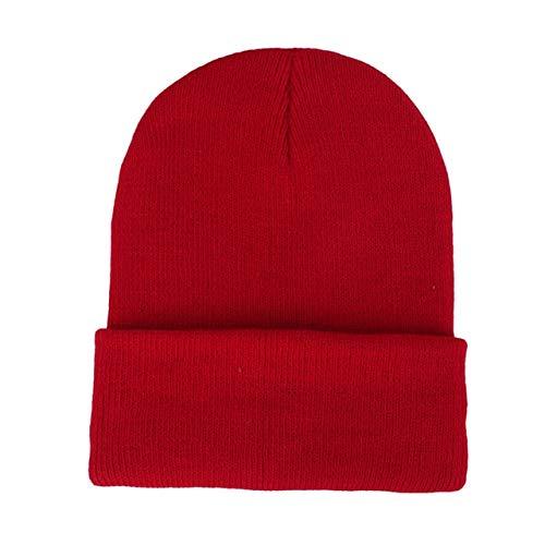 Solid Color Knitted Beanies Hat Winter Warm Ski Hats Men Women Multicolor Skullies Caps Soft Elastic Cap Sport Bonnet gorro-a18