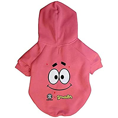 Fresh Pawz Spongebob x Patrick Face Hoodie | Dog Clothing Pink XXL