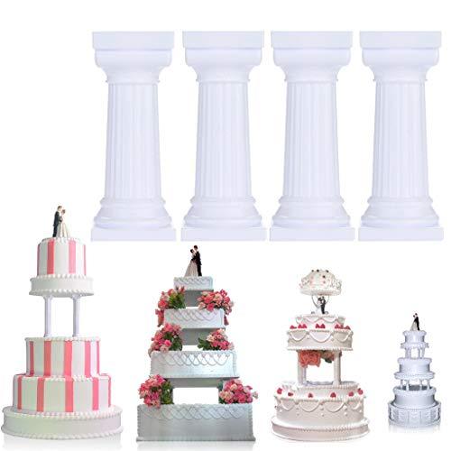 Kitchen & Dining, iuuhome 4pcs Multi-Layered Cake Roman Column Support Stand Decor Pillars Wedding Cake
