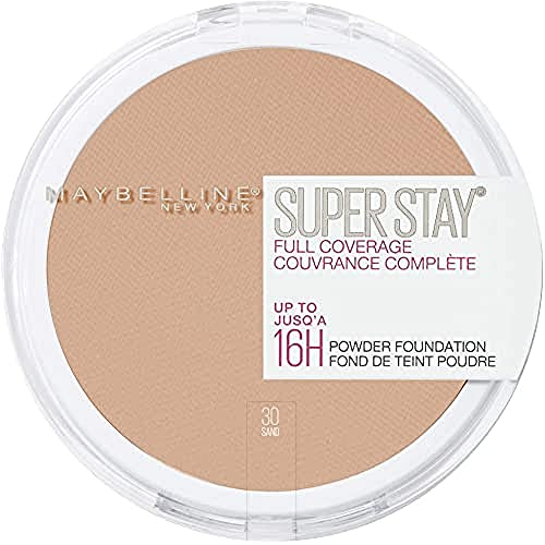 Maybelline New York - Superstay 24H, Polvo Compacto Matificante, Tono: nº30 Sand - 9 ml