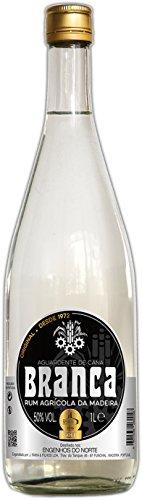 BRANCA Aguardente de Cana 50% - Rum Agrícola da Madeira Zuckerrohrschnaps aus Portugal (1 x 1,0 L)