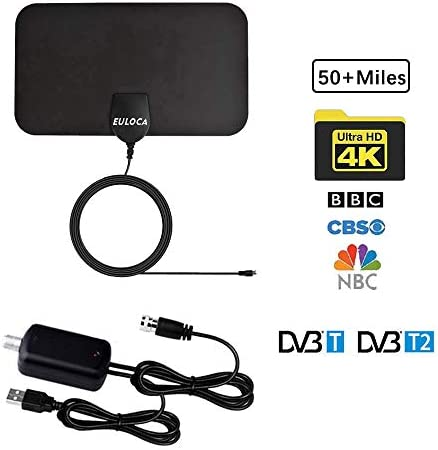 TV Antenna Indoor Digital HDTV Amplified Antennas Freeview 4K 1080P HD VHF UHF for Local Channels product image