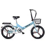 LHR Klapprad, 16-zoll-20-zoll-mini-fahrrad Mit Variabler Geschwindigkeit, Kleines Rad, Integrierter...