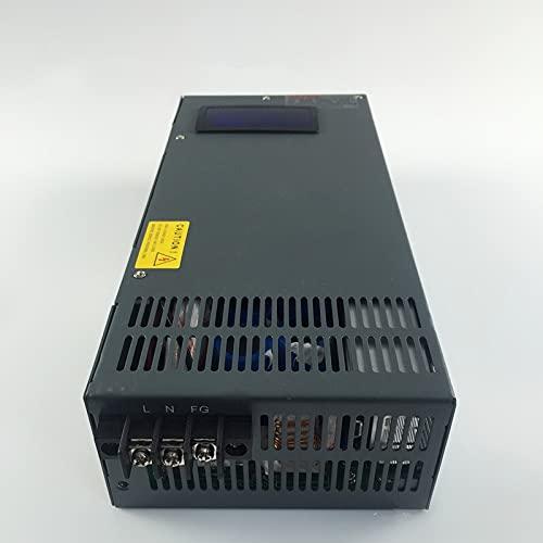 Fuente de alimentación de conmutación 2000W 0-12V 24V 36V 27V 48V, Voltaje Ajustable para Control Industrial DC Motor Power Suply i (Input Voltage : 110V, Output Voltage : 0 72V 0 27A)