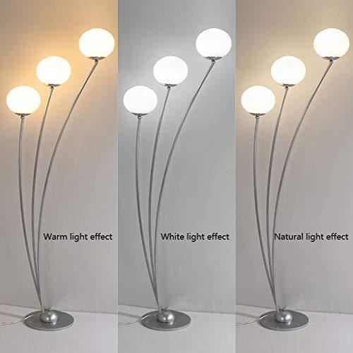 Lampadaires- Plusieurs minimaliste moderne boule de verre lumière lampadaire salon chambre chevet LED protection des yeux lampe de lecture personnalité créative étude canapé lampe de table verticale