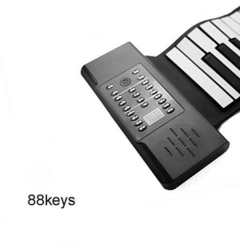 IG 88-Key Rollo de la Mano Del Teclado de Piano Engrosamiento Versión Profesional Principiantes Práctica Teclado Portátil Plegable (Smart),UNA,Un tamaño