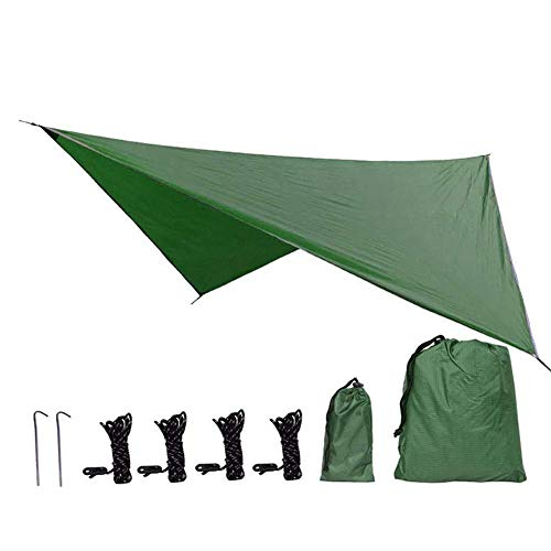 Lightweight Waterproof Ripstop Rain Fly Hammock Tarp Cover Tent Shelter for Camping Outdoor Travel