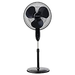 cheap Honeywell fan, stand with 2 blades, 16, black, remote control, swing, automatic switch off, 3 power supplies …
