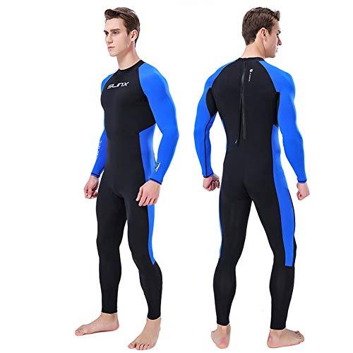 JINGJIE Neopreno Hombre, Traje De Triatlón Respirable Cómodo Buceo con Traje De Cuerpo Completo del Equipo De Submarinismo De Traje De Surf Natación,XL