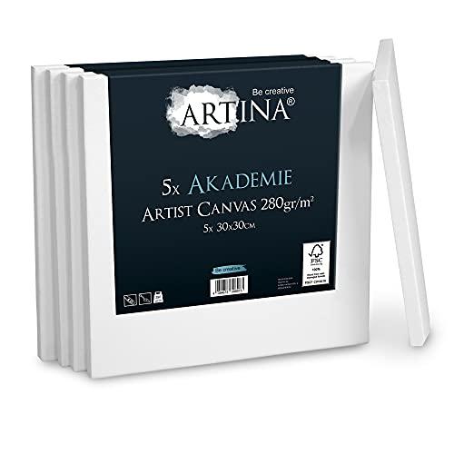 Artina Akademie Keilrahmen 30 x 30 cm, 5er Set