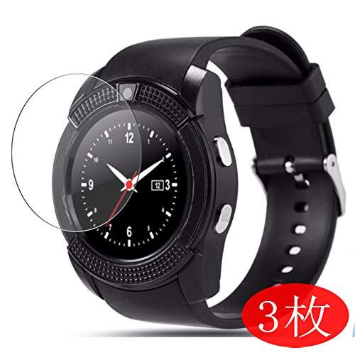 VacFun 3 Pezzi Trasparente Pellicola Protettiva per Mahipey/Padcod/KOMTOP-QQW/ASSOIAR/Topffy/Robesty V8 K200 smartwatch, Screen Protector (Non Vetro Temperato) Protezioni Schermo
