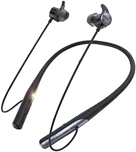 Audífonos Inalámbricos Bluetooth Y-Disk AptX Adaptive Auriculares Bluetooth con Neckband Diseño Audífonos acústicos con Reducción de Ruido IPX7 Impermeable Audífonos Deportivos con Bluetooth 5.0 resistentes al agua para correr con Micrófono Incorporado