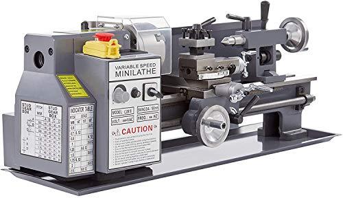 Orion Motor Tech 550W Tornio per Metallo Tornio per Fresatura Tornio Parallelo con Display Digitale Mini Tornio in Metallo 180 x 350 mm 50-2250 RPM (180 x 350 MM)