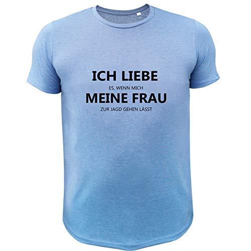 Jagd T Shirt, Ich Liebe es wenn Mich Meine Frau zur Jagd gehen lässt (20170, blau, XXL)