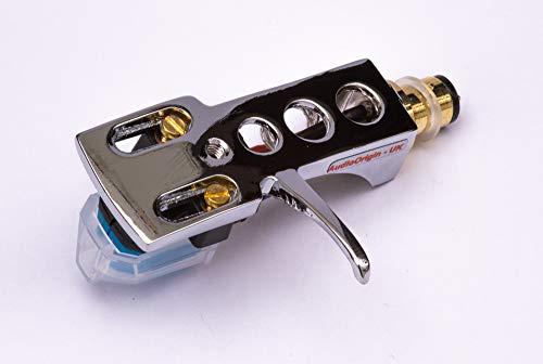 Spiegel Chrom beschichtet Schale, Halter mit AT Tonabnehmer, Nadel für AKAI AP-006, ATT05U, AP-306/C, ATT022U, AP-007, AP-Q50, AP-D30. AP-307, AP-005, ATT10U, AP-103/C, AP-Q80, AP-Q55