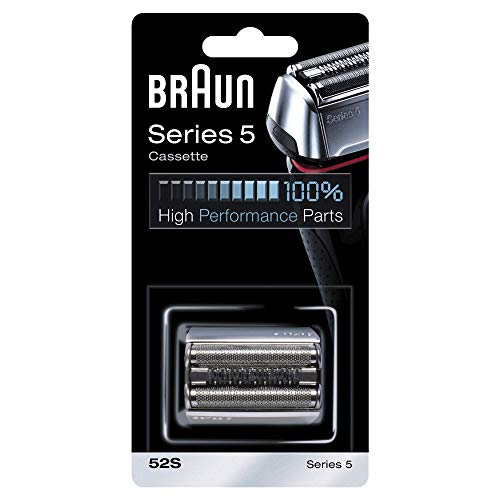 Braun Elektrorasierer Ersatzscherteil 52S, kompatibel mit Series 5 Rasierern (alte Generation), silber