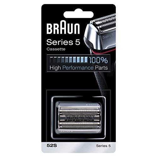 Braun Elektrorasierer Ersatzscherteil 52S, kompatibel mit Series 5 Rasierern, silber