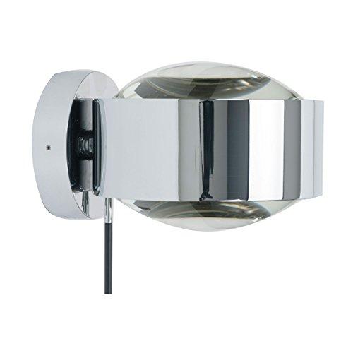 Top-Light Puk Maxx Wall Plus Wandleuchte Chrom glänzend - Leuchtenkopf Linse/Linse