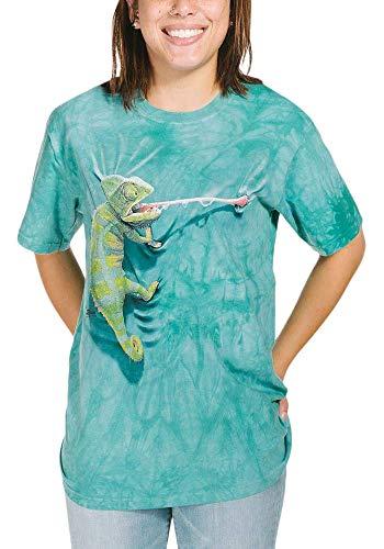 T-Shirt Kletterndes Chamäleon blau | S