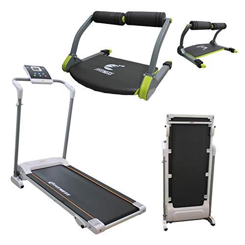 FFitness Attrezzatura Multifunzione Home Gym Equipment Body Bulding Tapis Roulant Easy-Folding System Salvaspazio Pieghevole Elettrico + Six Pack TB Tonic Smart Abdos Wonder Care