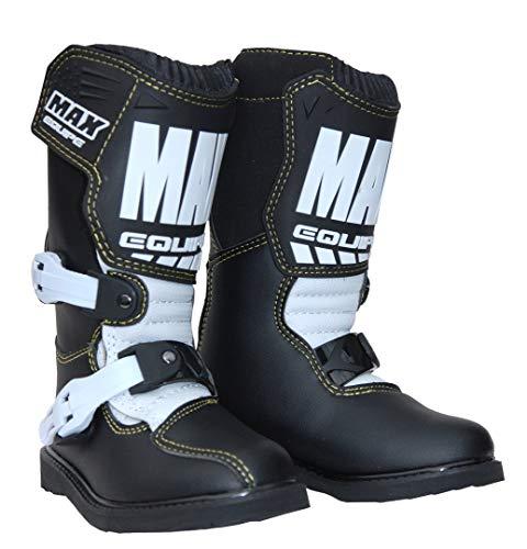 Wulfsport Kinder Max Equipe Cub Motocross Motorrad Stiefel Schwarz/Weiß - Schwarz, EU35