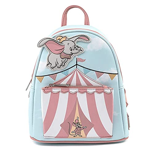Loungefly Disney Dumbo Flying Circus Tent Womens Double Strap Shoulder Bag Purse
