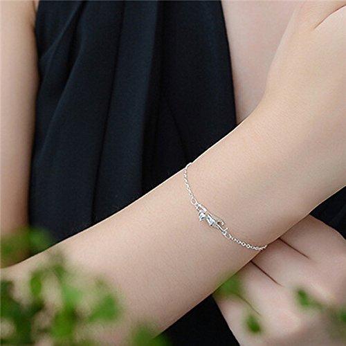 Rurah Fashion Cat Paw Hand Chain Fine Bracelet Anklet Chain for Women,Bracelet