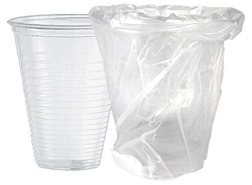 ILIP PZ 50 Bicchiere INCARTATO da ML 200 COMPOSTABILE BIODEGRADABILE Trasparente INCARTATO