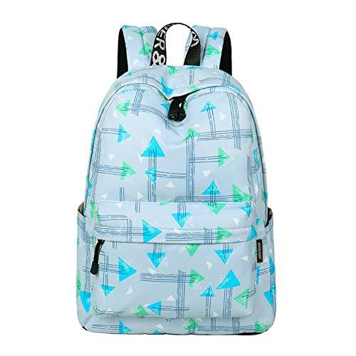 Demarkt - Mochila escolar para estudiantes (40 x 30 x 13 cm), color azul claro Azul claro x 40 x 30 x 13 cm. 40*30*13cm