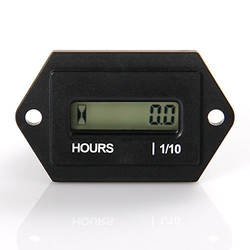Medidor de horas LCD digital Runleader, CC de 4.5V a 90V,