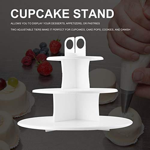 Hemore Kitchen 3-lagiger Cake Pop & Cupcake Ständer sicher Lebensmittelqualität Kunststoff Cupcake Ständer Home Zubehör