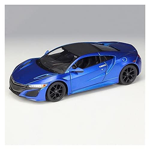 Juguetes Coches 1:24 para A-Cura para NSX 2018 Modelo De Coche De Aleación De Simulación Vehículos De Fundición Estática De Metal Modelo De Coche Juguetes (Color : Azul)