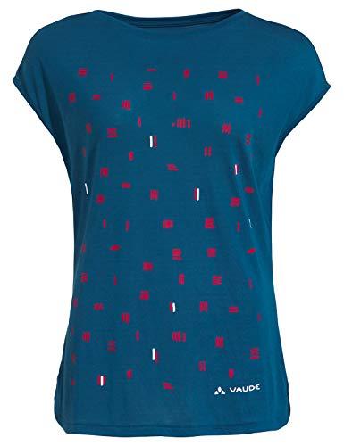 VAUDE Damen T-Shirt Women\'s Tekoa Shirt, Kingfisher Uni, 38, 40962