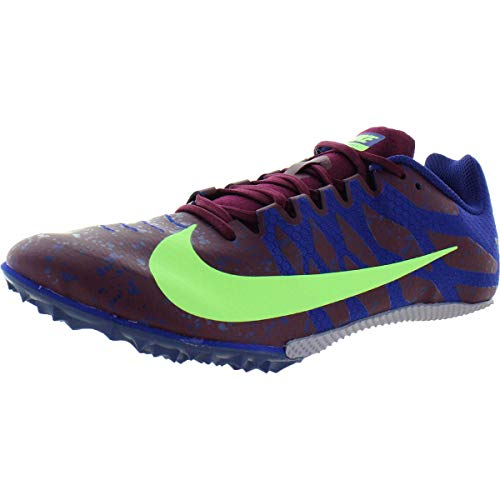 Nike Zoom Rival S 9, Zapatillas de Atletismo Unisex Adulto, Multicolor (Bordeaux/Lime Blast/Regency Purple 602), 44.5 EU