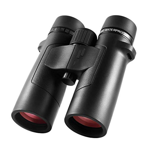 Mini 8x42 Binoculars for Adults,Professional HD Binoculars Clear Weak Light Vision - BAK4 Prism FMC Lens for Watching Outdoor Sports Games and Concerts Travel, Black Binoculars