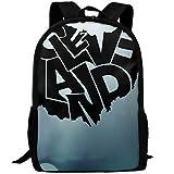 vfrtg Cleveland Ohio Autoaufkleber Interesse drucken benutzerdefinierte einzigartige lässige Rucksack Schultasche Reise Daypack Geschenk