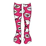 WOMFUI Hello Kitty Candies Thick Socks Breathable Socks for Men Women