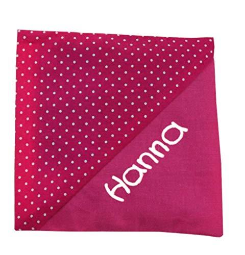 Kühlkissen/Wärmekissen mit Namen Punkte pink dreieck (Hülle inkl. Kühlkompresse) für Kinder- Kühlkompresse Wärmekompresse Personalisiert