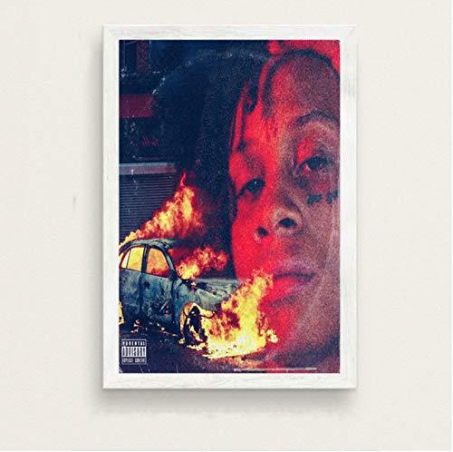 PCCASEWIND Bilder Wandbild Frameless 50X70Cm - Trippie Redd EIN Liebesbrief An Sie Warmes Album Rap Hip Hop Rapper Star Musik Kunst Seidenmalerei Leinwand Wandplakat Wohnkultur Ae6333