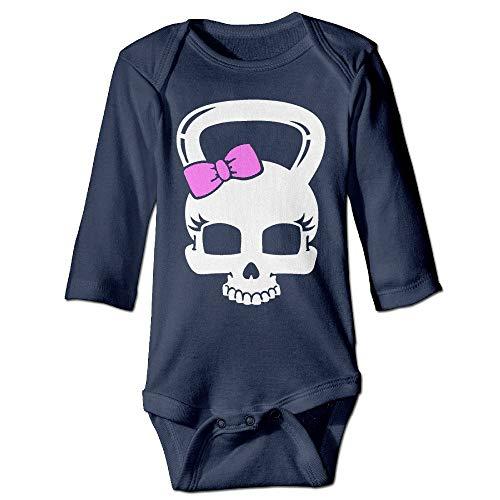 SDGSS Babybekleidung Bodysuits Baby Boys' and Girl's Bodysuits Skull Kettlebell Crossfit Workout Long Sleeve