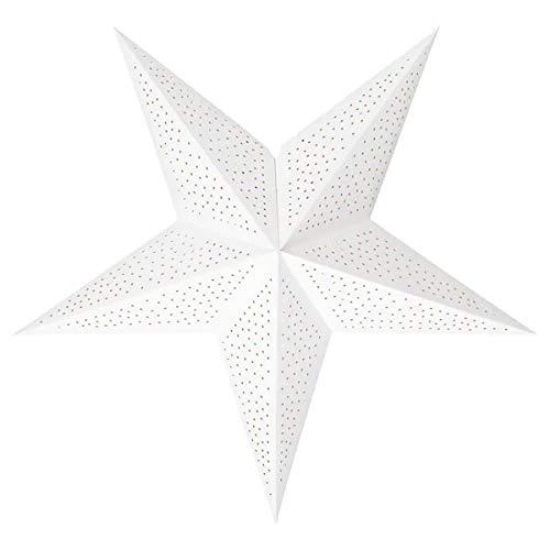 IKEA Strala Weihnachtsstern - sternförmiger Leuchtenschirm - 70 cm aus Papier - Punkte gepunktet weiß