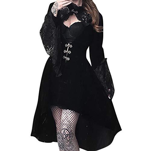 SALUCIA Damen Mittelalter Gothic Kostüm Elegant Retro Kleider Gewand Viktorianisches Renaissance Prinzessin Barock Rokoko Kleidung SA234