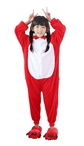 Dorliki Kinder Onesie Pyjama Christmas Halloween Tier Einhorn Kostüm Flanell Angry Bird 130