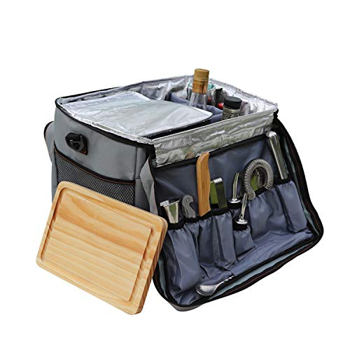 Cocktail Travel SetSKY FISH 13 Pieces Bartender Kit Including Bar Tools And Insulated Bag For Travel Camping And Picnic