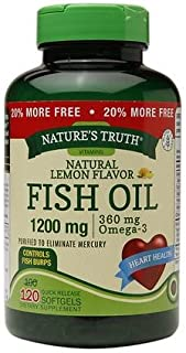 Nature's Truth Fish Oil 1200mg Lemon - 3PC