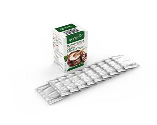 Joghurtferment für authentischen bulgarischen Joghurt – 10 Beutel gefriergetrockneter Starterkulturen