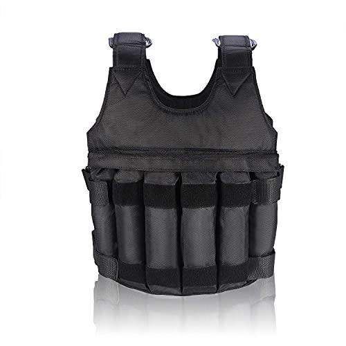 SANON Gewichtsweste Einstellbare Maximale Belastung 50 Kg Gewichtsweste/Jacke mit 12 Stück Beutel Trainingsweste für Trainingsübungen Fitness Laufen Erwachsener